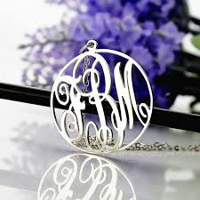 3 initial monogram necklace sterling silver 42 best ns circle necklace images on circle necklace