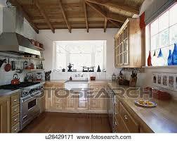 cuisine bouleau banques de photographies traditionnel cuisine à rayonné