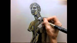 drawing time lapse hyperrealistic art how to draw bronze greek