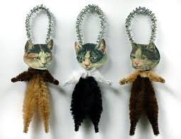 cat themed ornaments you and your family can make catster