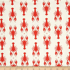 riley blake home decor lobster red discount designer fabric