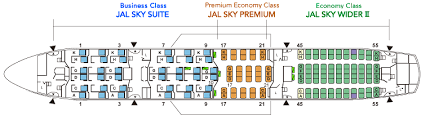 boeing 787 9 seat map airlines 787 8 jal aircraft collection