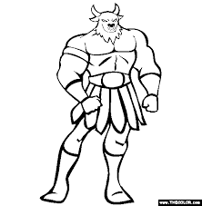 super villain coloring pages the minotaur coloring page free the minotaur online coloring