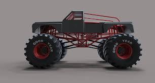 bigfoot monster truck model monster truck bigfoot 3d model cgtrader
