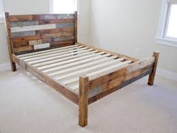 rustic wood bed frame frame decorations
