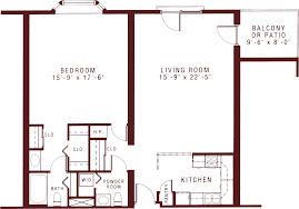 spacious one bedroom apartments for senior living riddle village