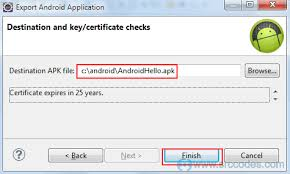 create apk build android application package file apk using eclipse ide and