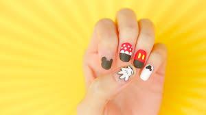 mickey u0026 minnie nail art tutorial disney video