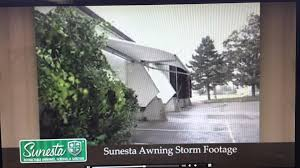 Storm Awnings Sunesta Retractable Awning In Storm Youtube