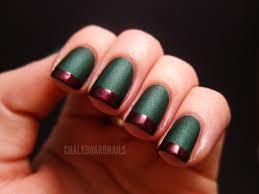 holiday french tips chalkboard nails nail art blog