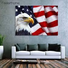 Eagle American Flag 1 Piece Canvas Art Canvas Painting American Flag Bald Eagle Hd