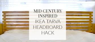 ikea bed hack how i made it mid century inspired ikea tarva bed hack a