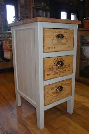 details about recycled wine box chest of drawers solid wood