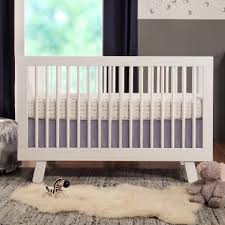 Cribs With Mattress Included by Babyletto Hudson 3 In 1 Convertible Crib With Toddler Rail White