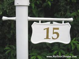 light post with address sign personalized cast hanging l light pole post number sign black