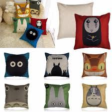 cute cartoon totoro pillow case car cushion cover shell sofa bed
