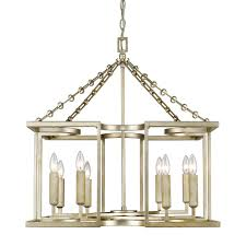 Lighting Chandelier Eurofase Campobasso 8 Light Gold Chandelier With Glass Wafers