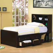 coaster phoenix full bookcase bed with underbed storage coaster