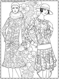 fashion model coloring pages 1824 best colorir moda images on pinterest coloring books dover