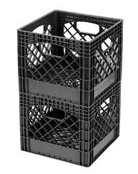 milk crate shelves amazon com buddeez mc01016blk milk crates 16 quart black 2 pack