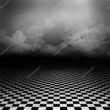 empty dark psychedelic artistic image with black and white