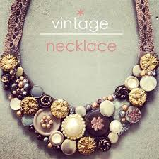 diy necklace vintage images Diy vintage necklace brownies lace jpg