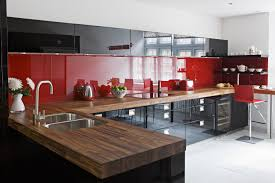Red Kitchen Table by Kitchen Original Sleek Red And Black Kitchen Cabinets Silver