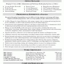 Business Office Manager Resume Cover Letter Resume Format For It Manager Resume Format For It