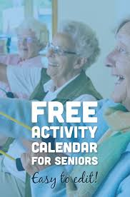 free activity calendar for seniors assisted living upcoming