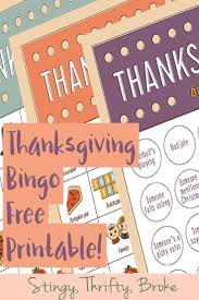 thanksgiving bingo printable guest post stingy thrifty