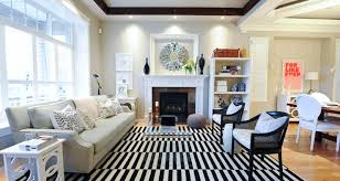Black White Striped Rug Black And White Striped Rug Transitional Living Room Andrea