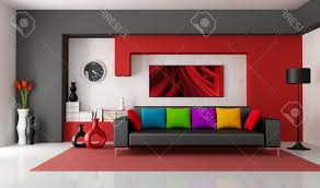 Red And Black Living Room Decor Black Red And White Furniture Distinctive Grain Pattern In The