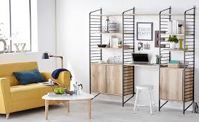 biblioth ue avec bureau bureau dans pièce à vivre comment intégrer un bureau dans un salon