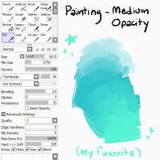 illustration tutorial paint tool sai long post brush settings