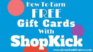 free gift cards how to earn free gift cards with shopkick a home built on