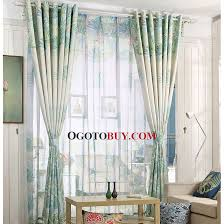 Pattern Window Curtains Country Style Green Leaf Pattern Quality Window Curtains Buy