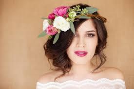 bridal garland bridal hair with garland lavender flower hair wreath purple