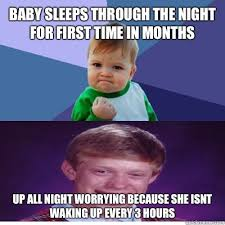 Success Baby Meme - baby sleeps through the night for first time in months up all