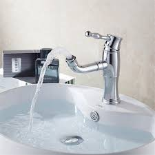 bathroom sink with side faucet chrome finish modern single handle waterfall bathroom sink faucet