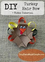 thanksgiving turkey names diy thanksgiving turkey hair bow tutorial