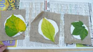 that artist woman plaster leaf prints