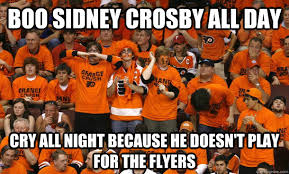 Flyers Meme - boo sidney crosby all day cry all night because he doesn t play