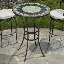 Bar Height Bistro Table Alfresco Home Ponte 30 In Mosaic Bar Height Bistro Table