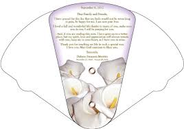 Hand Fan Wedding Programs Expandable Fan From Soldbyangels Com