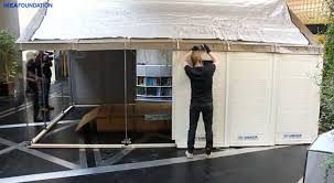 ikea unveils solar powered flat pack shelters for easily