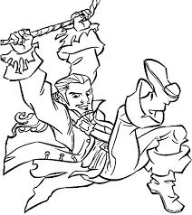 dessins de pirates des caraibes à colorier
