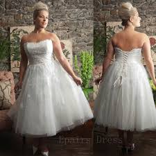 plus size tea dress wedding clothing for large ladies