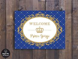Blue And Gold Baby Shower Decorations by Prince Backdrop Prince Baby Shower Decor Prince Birthday