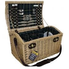 picnic basket set for 4 jmart marko outdoor arrington 4 person wicker picnic basket