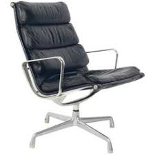 Herman Miller Executive Chair Leather Soft Pad Executive Chair And Ottoman By Charles And Ray